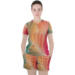 Modern Colorful Abstract Art Women s Tee And Shorts Set by tarastyle