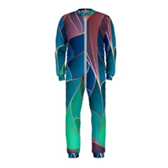 Modern Colorful Abstract Art Onepiece Jumpsuit (kids)