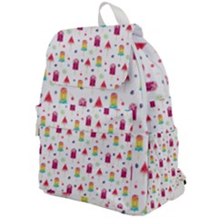 Popsicle Juice Watercolor With Fruit Berries And Cherries Summer Pattern Top Flap Backpack