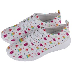 Popsicle Juice Watercolor With Fruit Berries And Cherries Summer Pattern Men s Lightweight Sports Shoes by genx