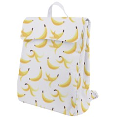 Yellow Banana And Peels Pattern With Polygon Retro Style Flap Top Backpack by genx