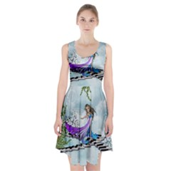 Cute Fairy Dancing On A Piano Racerback Midi Dress by FantasyWorld7