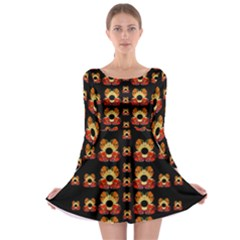 Sweets And  Candy As Decorative Long Sleeve Skater Dress by pepitasart