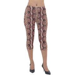 Luxury Snake Print Lightweight Velour Capri Leggings  by tarastyle