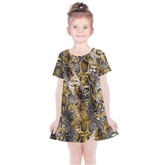 Luxury Snake Print Kids  Simple Cotton Dress by tarastyle