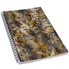 Luxury Snake Print 5 5  X 8 5  Notebook by tarastyle