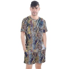 Luxury Snake Print Men s Mesh Tee And Shorts Set by tarastyle