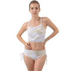 Luxury Gold Marble Mini Tank Bikini Set by tarastyle