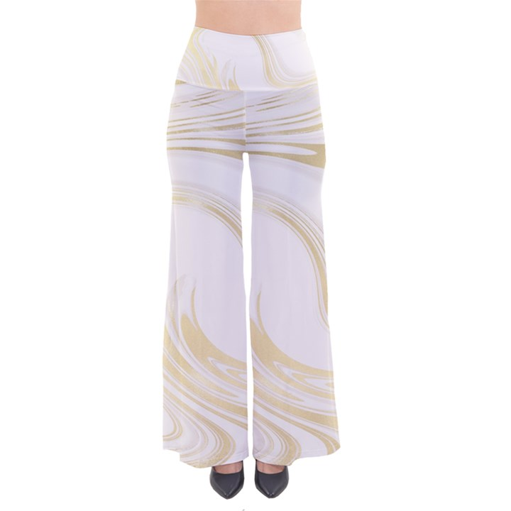 Luxury Gold Marble So Vintage Palazzo Pants