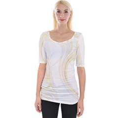 Luxury Gold Marble Wide Neckline Tee by tarastyle