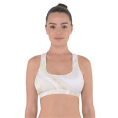 Luxury Gold Marble Cross Back Sports Bra by tarastyle