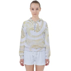 Luxury Gold Marble Women s Tie Up Sweat by tarastyle