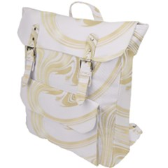 Luxury Gold Marble Buckle Up Backpack by tarastyle