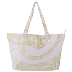 Luxury Gold Marble Full Print Shoulder Bag