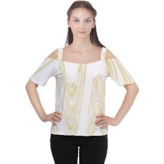 Luxury Gold Marble Cutout Shoulder Tee by tarastyle