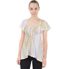 Luxury Gold Marble Lace Front Dolly Top