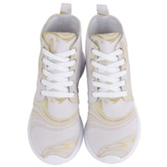 Luxury Gold Marble Women s Lightweight High Top Sneakers by tarastyle