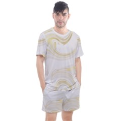 Luxury Gold Marble Men s Mesh Tee And Shorts Set by tarastyle