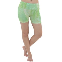Pastel Salty Watercolor Texture Lightweight Velour Yoga Shorts by tarastyle