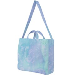 Pastel Salty Watercolor Texture Square Shoulder Tote Bag by tarastyle