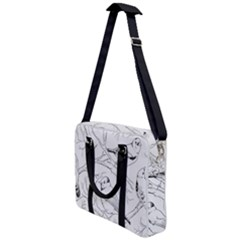 Birds Hand Drawn Outline Black And White Vintage Ink Cross Body Office Bag