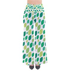 Leaves Green Modern Pattern Naive Retro Leaf Organic So Vintage Palazzo Pants by genx