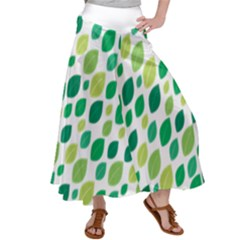 Leaves Green Modern Pattern Naive Retro Leaf Organic Satin Palazzo Pants by genx