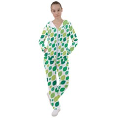 Leaves Green Modern Pattern Naive Retro Leaf Organic Women s Tracksuit by genx