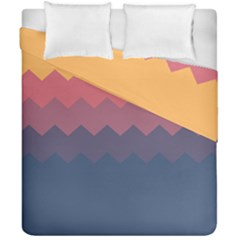 Flat Dusk Palette Duvet Cover Double Side (california King Size) by goljakoff