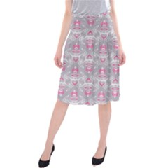 Seamless Pattern Background Midi Beach Skirt by HermanTelo