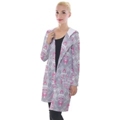 Seamless Pattern Background Hooded Pocket Cardigan