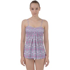 Seamless Pattern Background Babydoll Tankini Set