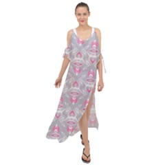 Seamless Pattern Background Maxi Chiffon Cover Up Dress
