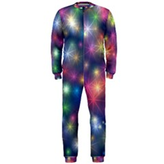 Abstract Background Graphic Space Onepiece Jumpsuit (men)