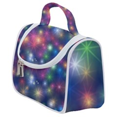 Abstract Background Graphic Space Satchel Handbag