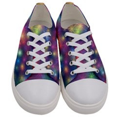 Abstract Background Graphic Space Women s Low Top Canvas Sneakers