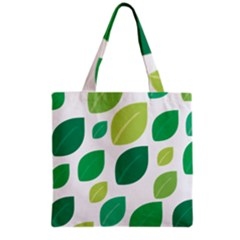 Leaves Green Modern Pattern Naive Retro Leaf Organic Grocery Tote Bag by genx