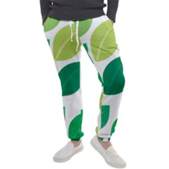 Leaves Green Modern Pattern Naive Retro Leaf Organic Men s Jogger Sweatpants by genx
