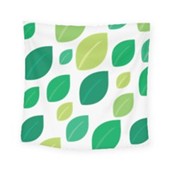 Leaves Green Modern Pattern Naive Retro Leaf Organic Square Tapestry (small) by genx