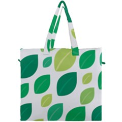 Leaves Green Modern Pattern Naive Retro Leaf Organic Canvas Travel Bag by genx
