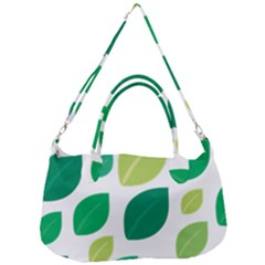 Leaves Green Modern Pattern Naive Retro Leaf Organic Removal Strap Handbag by genx