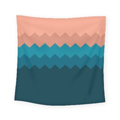 Flat Beach Palette Square Tapestry (small) by goljakoff
