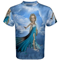Cute Fairy In The Sky Men s Cotton Tee