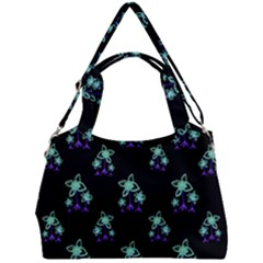 Dark Floral Drawing Print Pattern Double Compartment Shoulder Bag by dflcprintsclothing