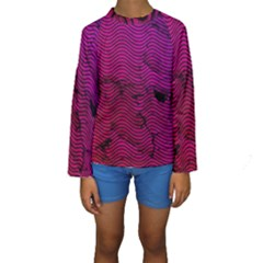 Fancy Tribal Pattern Kids  Long Sleeve Swimwear