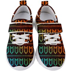 Fancy Tribal Pattern Kids  Velcro Strap Shoes by tarastyle