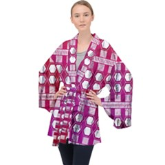 Fancy Tribal Pattern Velvet Kimono Robe by tarastyle