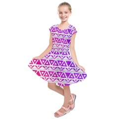 Fancy Tribal Pattern Kids  Short Sleeve Dress by tarastyle