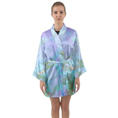 Iridescent Marble Long Sleeve Kimono Robe by tarastyle