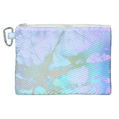 Iridescent Marble Canvas Cosmetic Bag (xl) by tarastyle